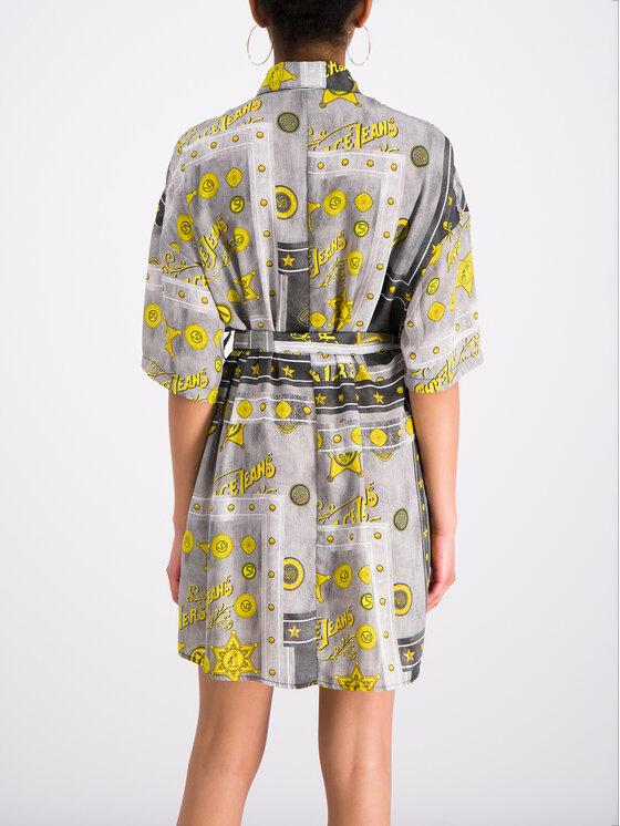 Versace Jeans Versace Jeans Košeľové šaty D2HTB426 Sivá Regular Fit