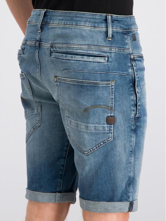 G-Star Raw G-Star Raw Pantaloncini di jeans D-Staq D10064-8968-A572 Blu scuro Slim Fit