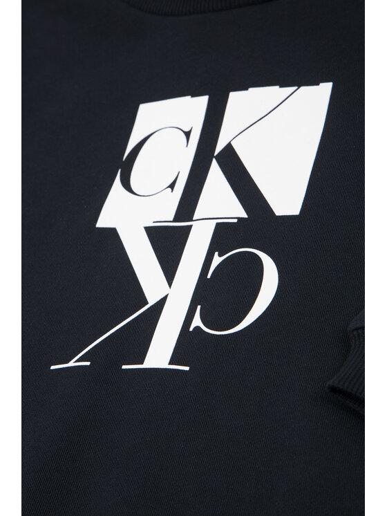 Calvin Klein Jeans Calvin Klein Jeans Džemperis Mirror Monogram IB0IB00389 Juoda Regular Fit