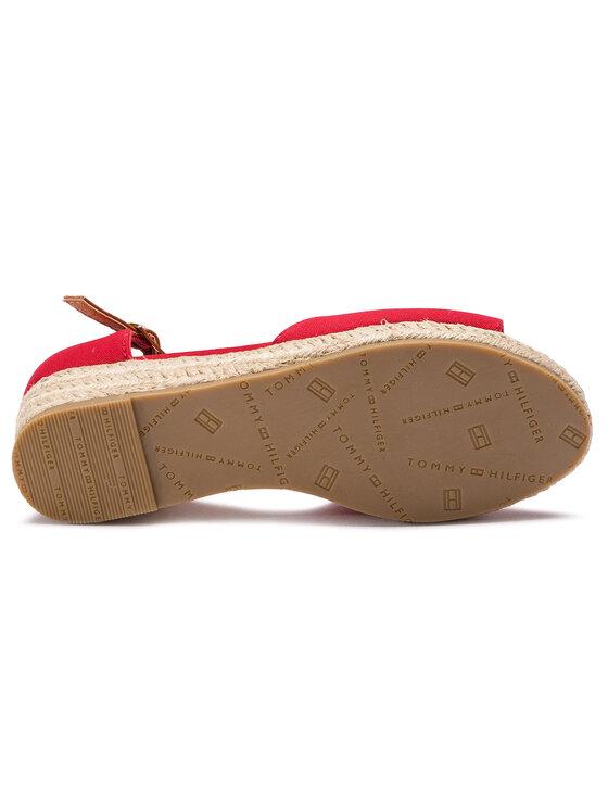 Tommy Hilfiger Tommy Hilfiger Εσπαντρίγιες Rope Wedge Sandal T3A2-30243-0547 Κόκκινο