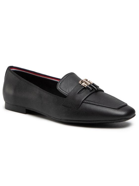 Tommy Hilfiger Lordsy Essential Leather Loafer FW0FW05684 Czarny