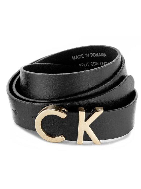 Calvin Klein Calvin Klein Moteriškas Diržas Standalone Ck Slim Metallic Belt K60K601109 80 Juoda