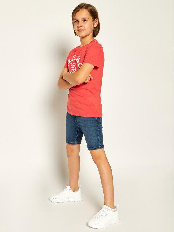 Pepe Jeans Pepe Jeans Marškinėliai Anthony PB502824 Raudona Regular Fit