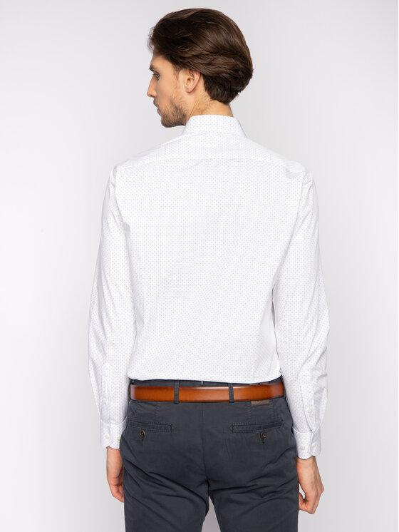 Tommy Hilfiger Tailored Tommy Hilfiger Tailored Koszula Poplin Dot Classic TT0TT06463 Biały Regular Fit