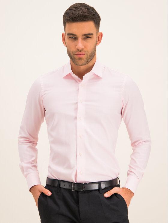 Emanuel Berg Koszula MCR37 Różowy Slim Fit