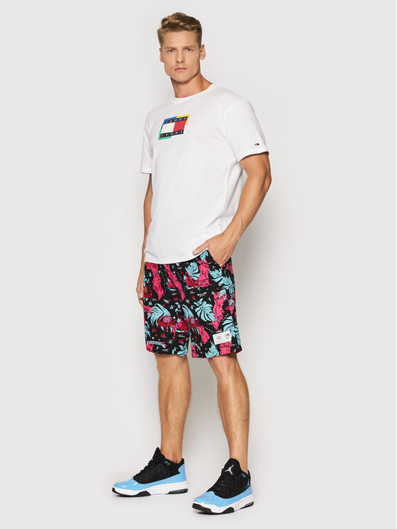 Tommy Jeans Tommy Jeans Тишърт Multicolor Flag DM0DM10891 Бял Regular Fit