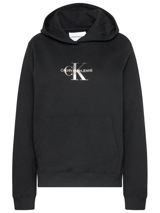 Calvin Klein Jeans Calvin Klein Jeans Mikina Monogram J20J214803 Černá Regular Fit
