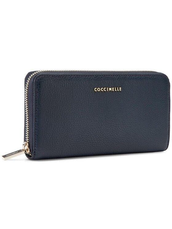 Coccinelle Coccinelle Duży Portfel Damski AW5 Metallic Soft E2 AW5 11 64 01 Granatowy