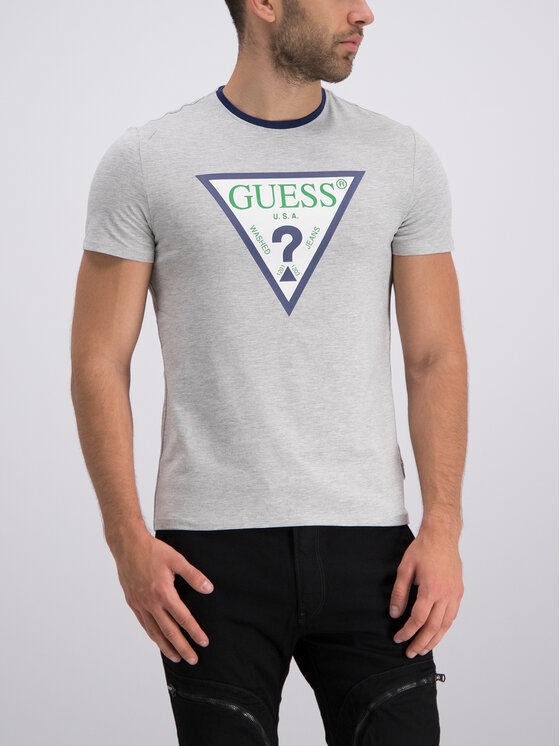 Guess Guess Tricou M92I24 J1300 Gri Super Slim Fit