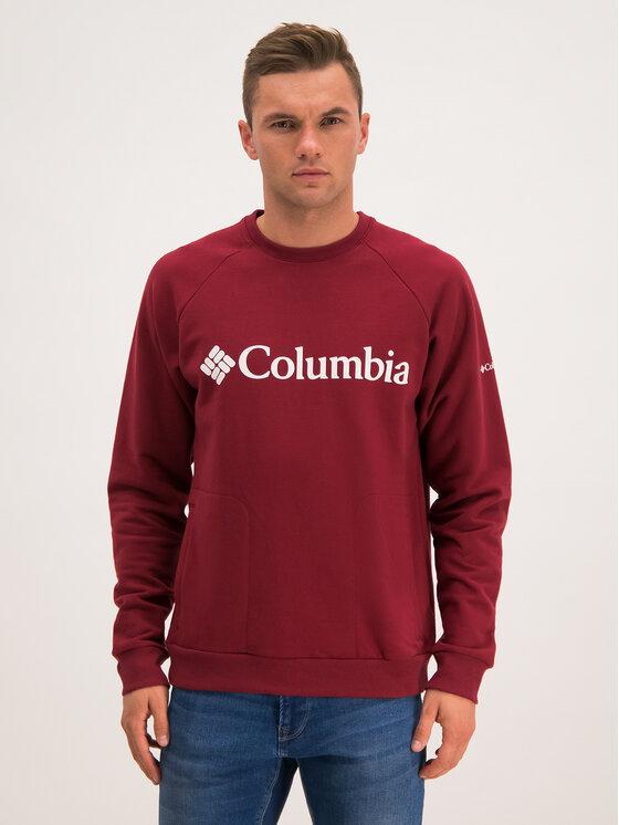 Columbia Columbia Felpa Lodge Crew 1861746 Bordeaux Regular Fit
