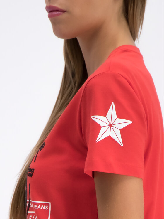 Versace Jeans Versace Jeans T-Shirt B2HTB7G9 Czerwony Regular Fit