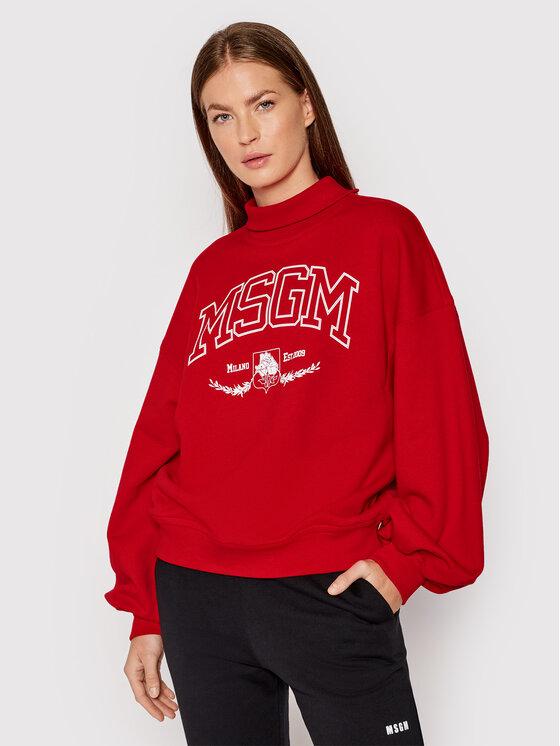 MSGM Džemperis 3141MDM73 217799 Raudona Relaxed Fit