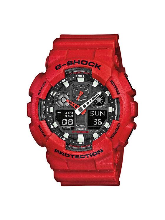 G-Shock Laikrodis GA-100B-4AER Raudona