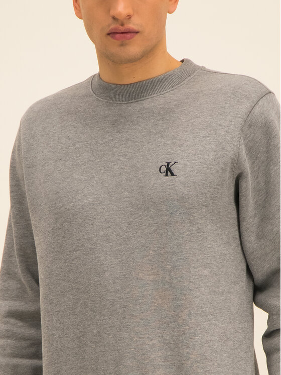 Calvin Klein Jeans Calvin Klein Jeans Bluză Embroidered Logo J30J314536 Gri Regular Fit