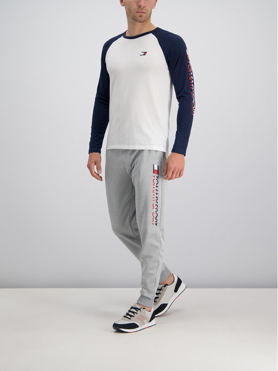 Tommy Sport Tommy Sport Долнище анцуг S20S200071 Сив Regular Fit