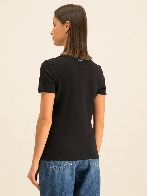 Guess Guess Marškinėliai Lips W01I0M I3Z00 Juoda Regular Fit