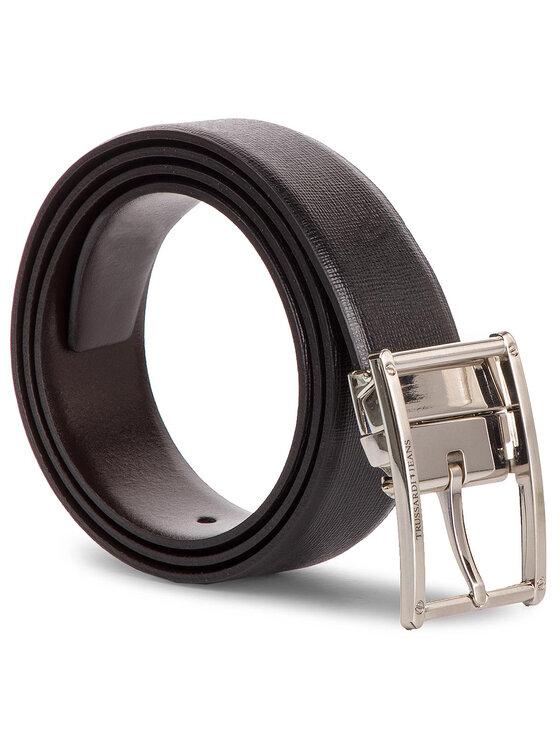 Trussardi Trussardi Jeans Мъжки колан Business Affair Kit 71L00079 Черен