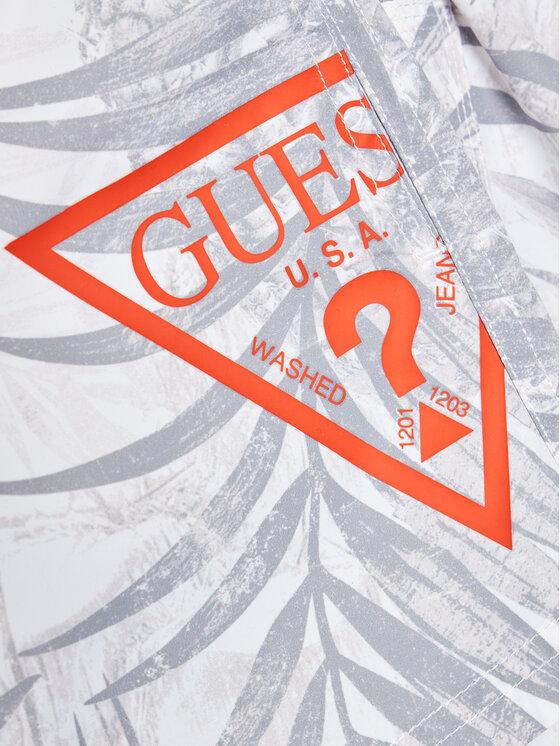 Guess Guess Szorty sportowe L1GZ00 TEL60 Biały Regular Fit