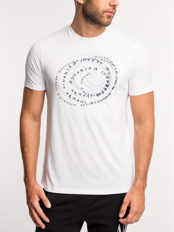 Armani Exchange Armani Exchange T-Shirt 6GZTDX ZJA5Z 1100 Biały Regular Fit