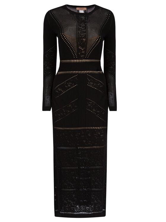 TwinSet TwinSet Официална рокля 192TT3210 Черен Slim Fit