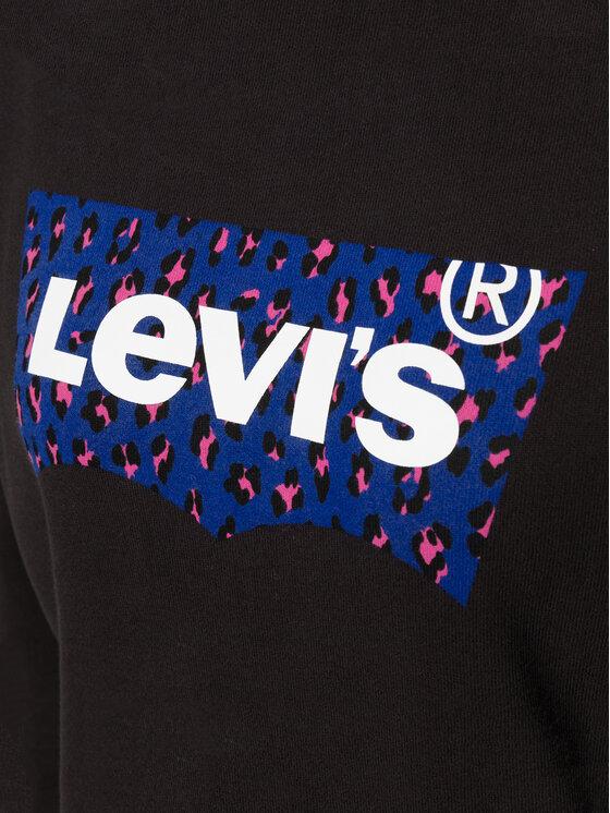 Levi's® Levi's® Mikina Graphic Sport Hoodie Meteorite 35946-0144 Černá Regular Fit