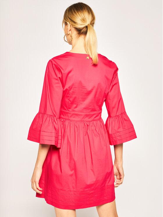 TwinSet TwinSet Sukienka codzienna 201TT2072 Różowy Regular Fit
