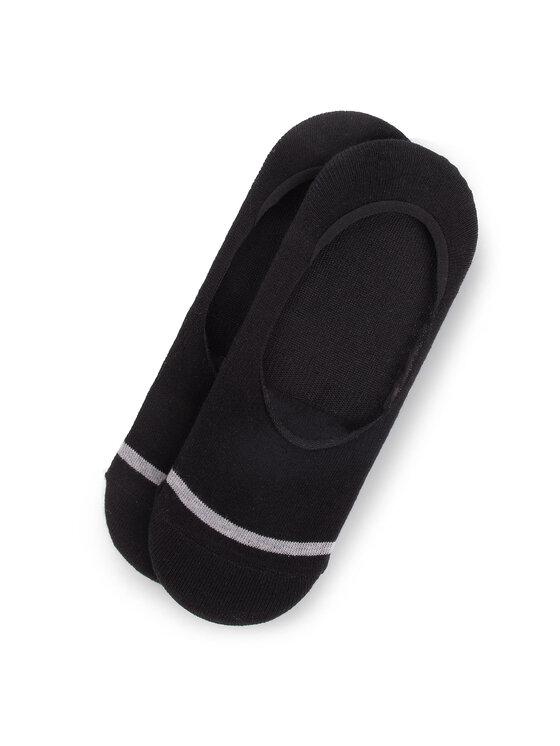 Bugatti Bugatti Súprava 2 párov krátkych pánskych ponožiek 6875 Čierna
