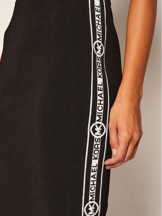 MICHAEL Michael Kors MICHAEL Michael Kors Pouzdrová sukně Logo Stripe MU07F5RBVC Černá Slim Fit