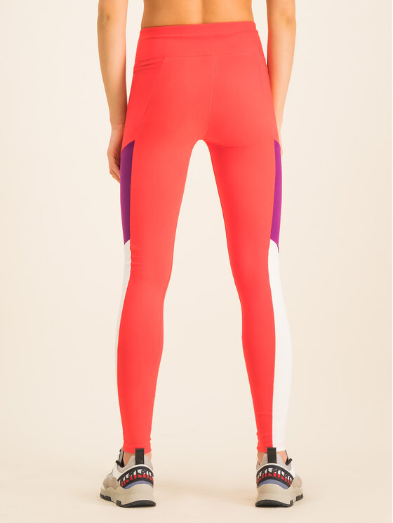 Tommy Sport Tommy Sport Leggings Blocked Tight Logo S10S100350 Rosso Slim Fit