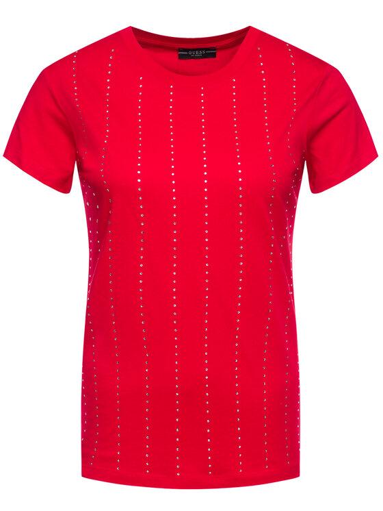 Guess Guess T-shirt Krystal Tee W01I70 K46D0 Rosso Regular Fit