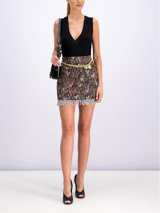 Elisabetta Franchi Elisabetta Franchi Spódnica mini GO-226-92E2-V259 Kolorowy Slim Fit
