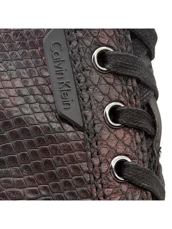 Calvin Klein Jeans Calvin Klein Jeans Plátenky Virginia Iridescent Python RE9343 Bordová