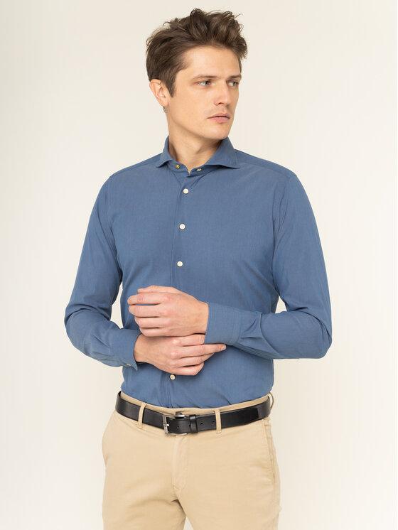 Emanuel Berg Marškiniai Hv-Harvard PEB45771 Mėlyna Slim Fit