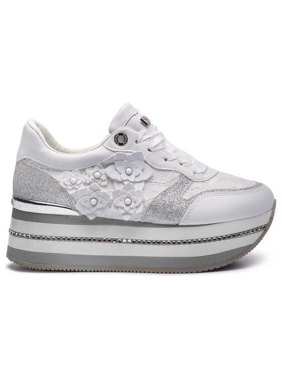 Guess Guess Sneakers Hinder FL5HIN LAC12 Blanc