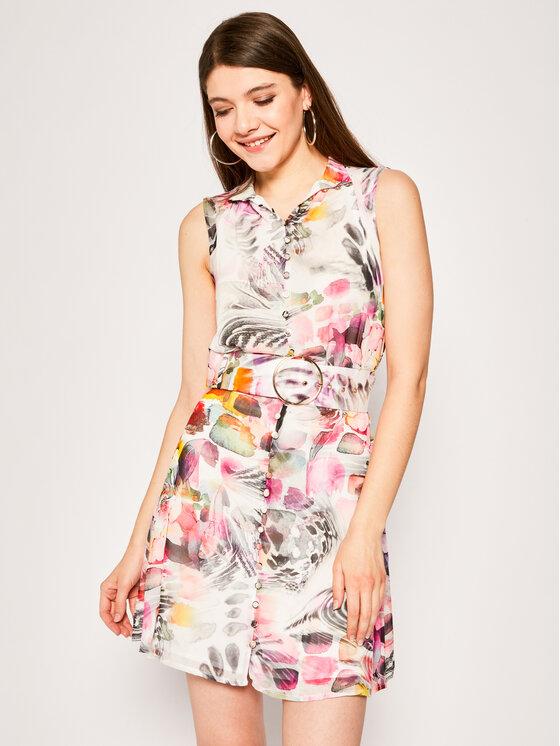 Marciano Guess Sukienka koszulowa Floral Flux 02G804 7068Z Kolorowy Slim Fit