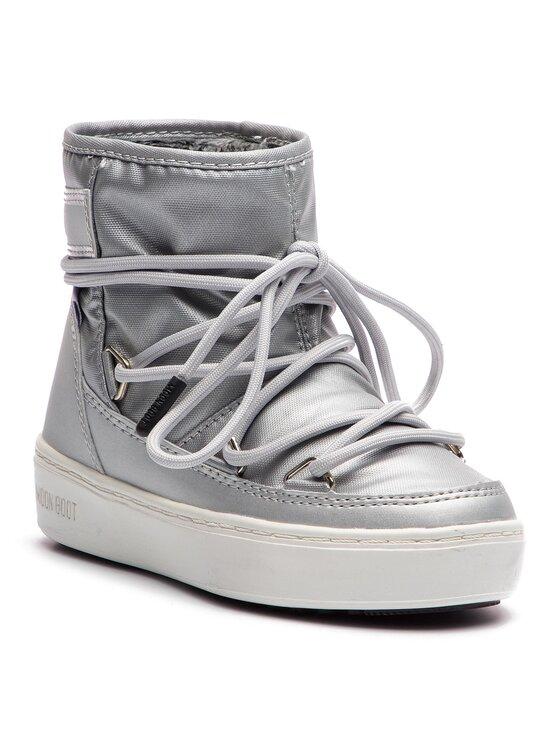Moon Boot Moon Boot Śniegowce Pulse Jr Girl Nylon Wp 34060200002 Srebrny