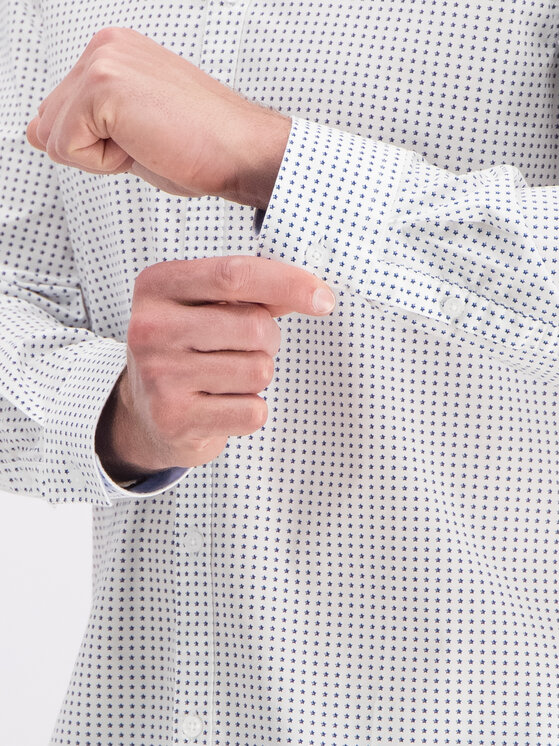 Guess Guess Košeľa M93H25 W8BX0 Biela Regular Fit