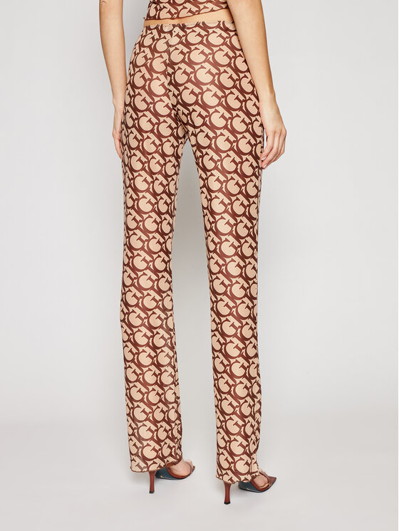 Guess Guess Spodnie materiałowe E1GB01 NT01L Brązowy Regular Fit