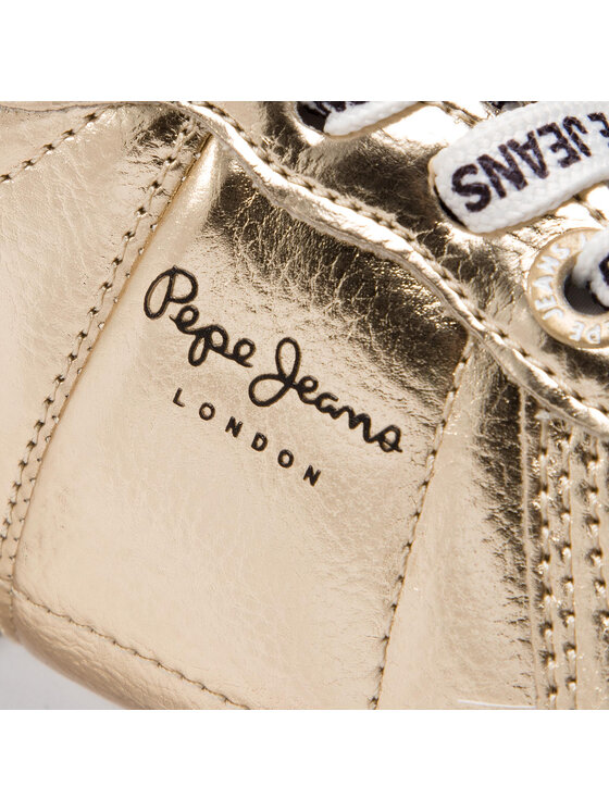 Pepe Jeans Pepe Jeans Sneakersy Sydnet Mirror PGS30391 Zlatá