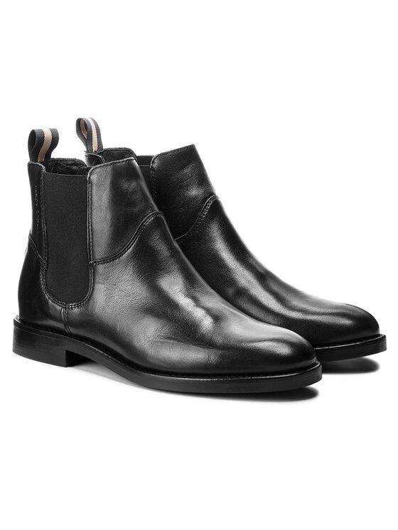 Marc O'Polo Marc O'Polo Členková obuv s elastickým prvkom 808 14895002 100 Čierna