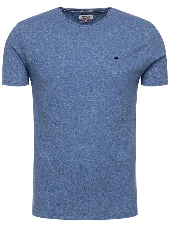 Tommy Jeans Tommy Jeans T-Shirt Essential Jaspe DM0DM04792 Modrá Slim Fit