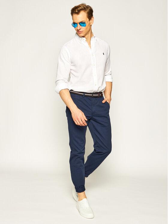 Polo Ralph Lauren Polo Ralph Lauren Παντελόνι υφασμάτινο Bedford 710767328 Σκούρο μπλε Straight Fit