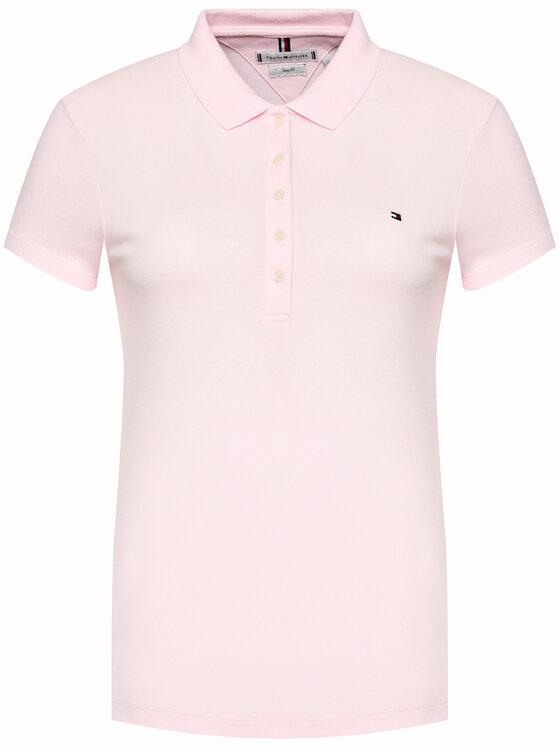 Tommy Hilfiger Tommy Hilfiger Polo Heritage 1M57636661 Różowy Slim Fit