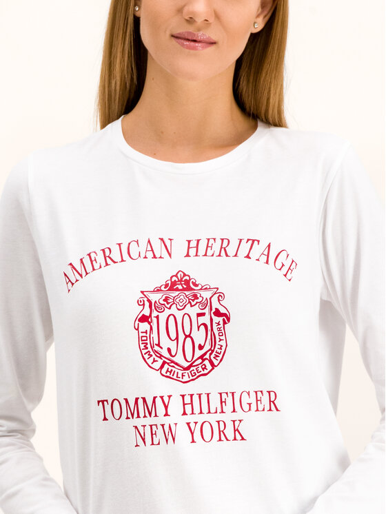 Tommy Hilfiger Tommy Hilfiger Halenka Ozlem WW0WW26186 Bílá Regular Fit