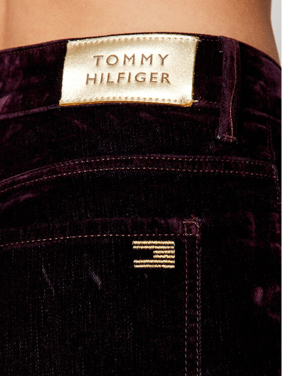 Tommy Hilfiger Tommy Hilfiger Jeansy ICONS Velvet WW0WW29633 Fioletowy Bootcut Fit