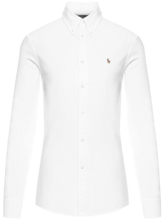 Polo Ralph Lauren Polo Ralph Lauren Koszula Washed Oxford 211743355 Biały Slim Fit