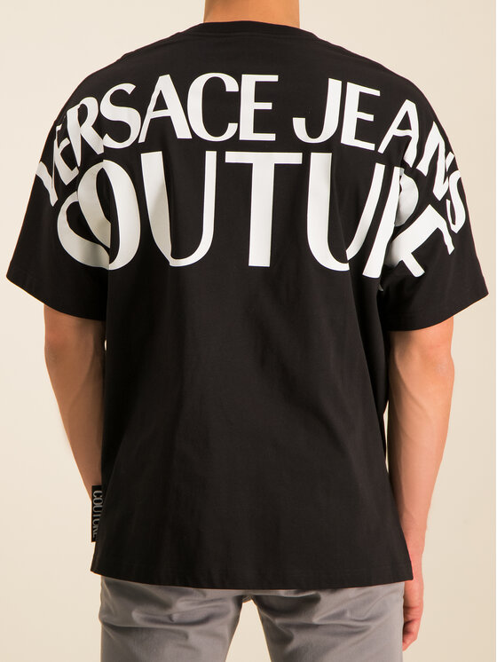 Versace Jeans Couture Versace Jeans Couture Тишърт B3GVA7A0 Черен Regular Fit