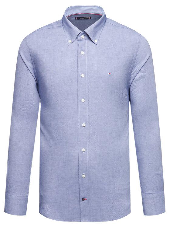 Tommy Hilfiger Tailored Tommy Hilfiger Tailored Camicia Dobby TT0TT06459 Blu scuro Regular Fit