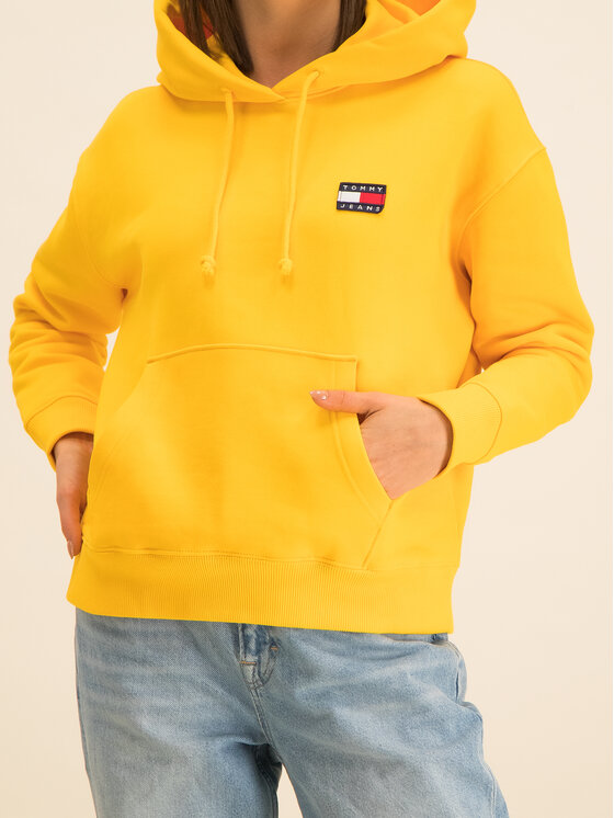 Tommy Jeans Tommy Jeans Bluză Tjw Badge DW0DW07787 Galben Relaxed Fit