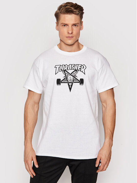 Thrasher Marškinėliai Sk8 Goat Balta Regular Fit